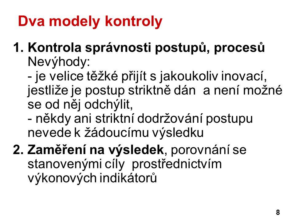 Dva modely kontroly