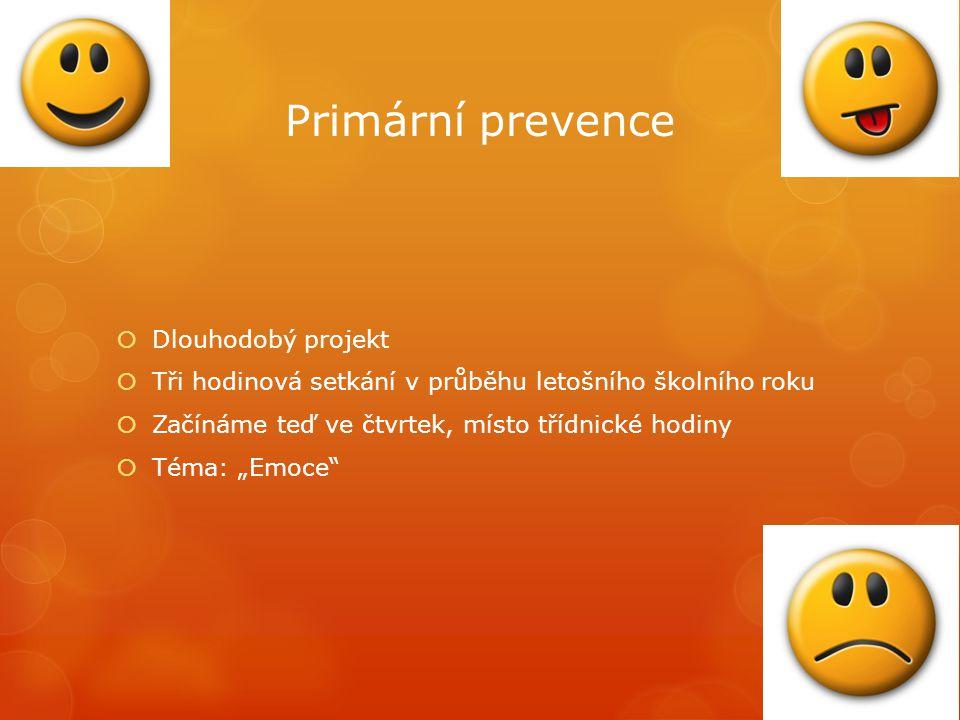 Primární prevence Dlouhodobý projekt