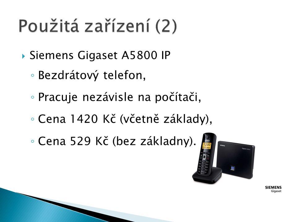 Použitá zařízení (2) Bezdrátový telefon,