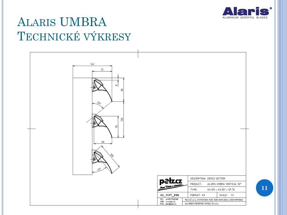 Alaris UMBRA Technické výkresy