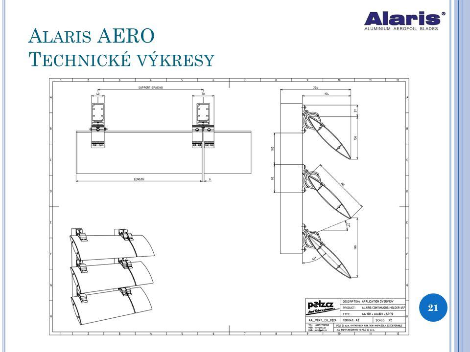 Alaris AERO Technické výkresy