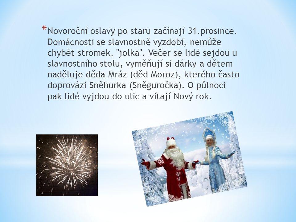 Novoroční oslavy po staru začínají 31. prosince