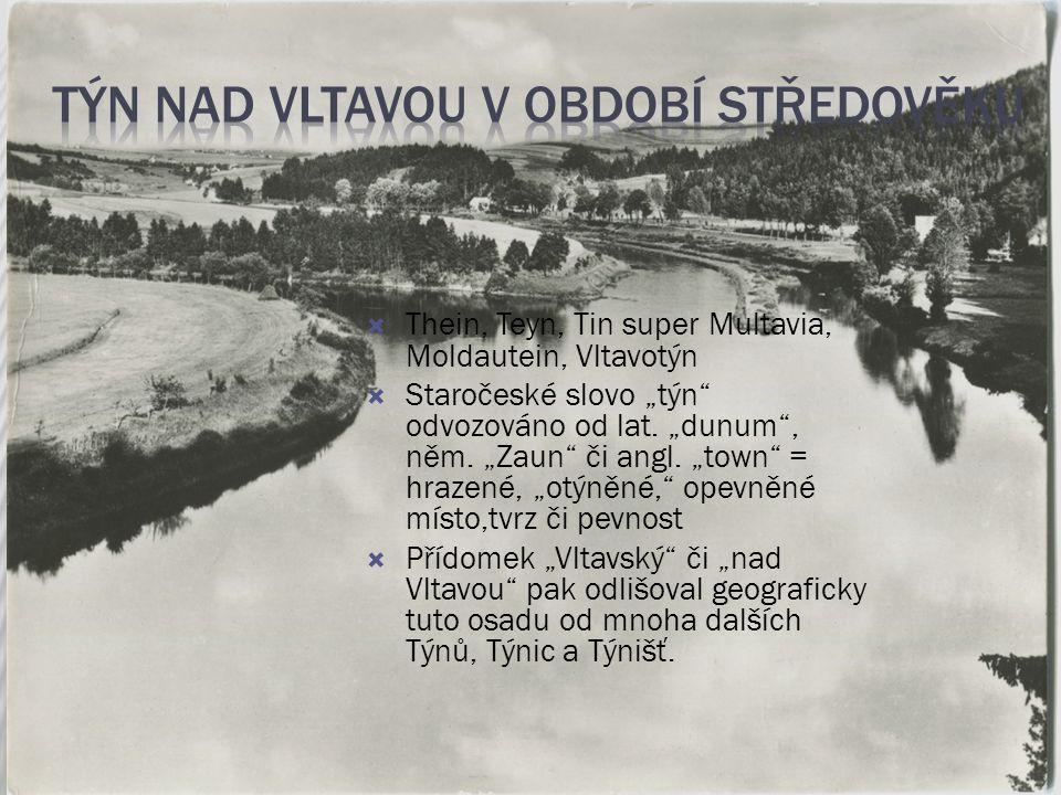 Týn nad Vltavou v období středověku