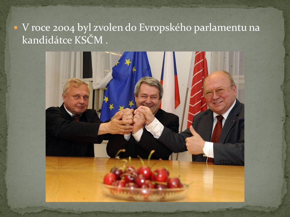 V roce 2004 byl zvolen do Evropského parlamentu na kandidátce KSČM .