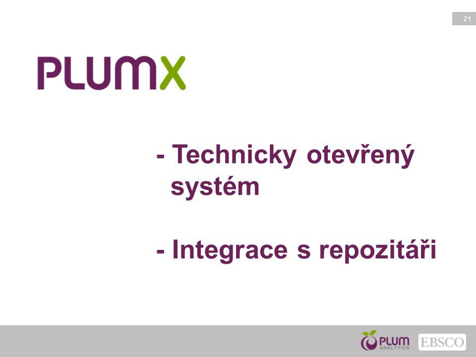 - Technicky otevřený systém - Integrace s repozitáři