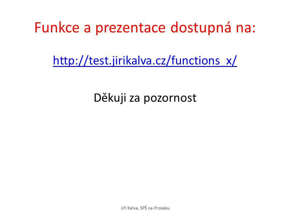 Funkce a prezentace dostupná na: