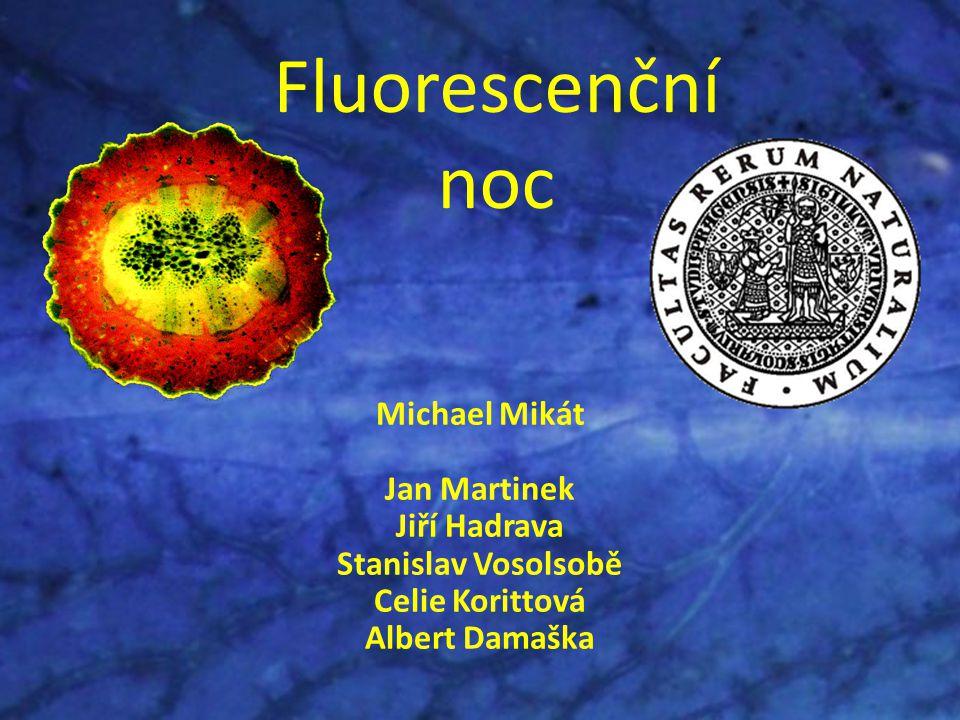 Fluorescenční noc Michael Mikát Jan Martinek Jiří Hadrava