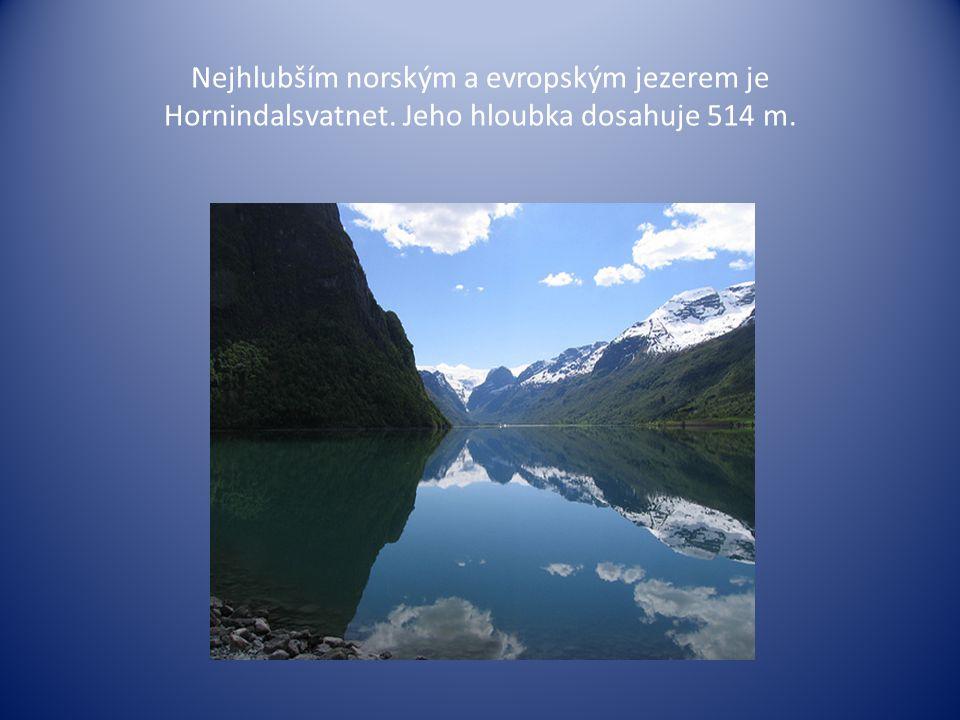 Nejhlubším norským a evropským jezerem je Hornindalsvatnet