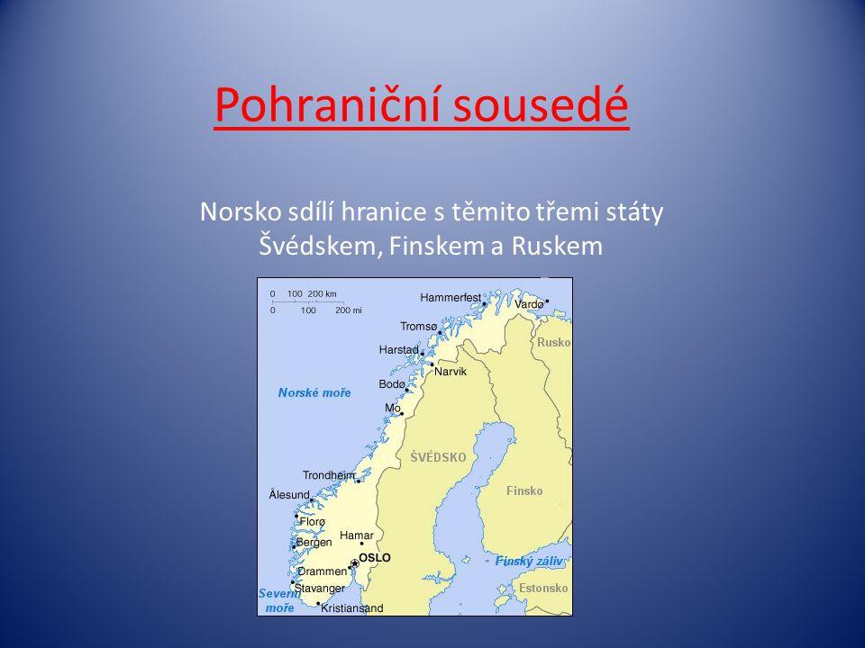 Norsko sdílí hranice s těmito třemi státy Švédskem, Finskem a Ruskem