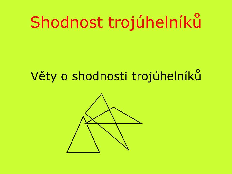 Shodnost trojúhelníků