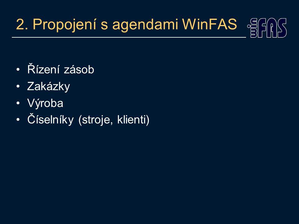 2. Propojení s agendami WinFAS