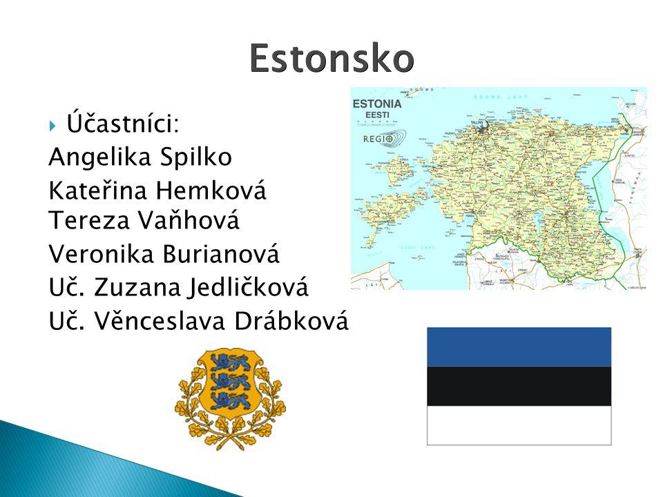 Estonsko Účastníci: Angelika Spilko Kateřina Hemková Tereza Vaňhová