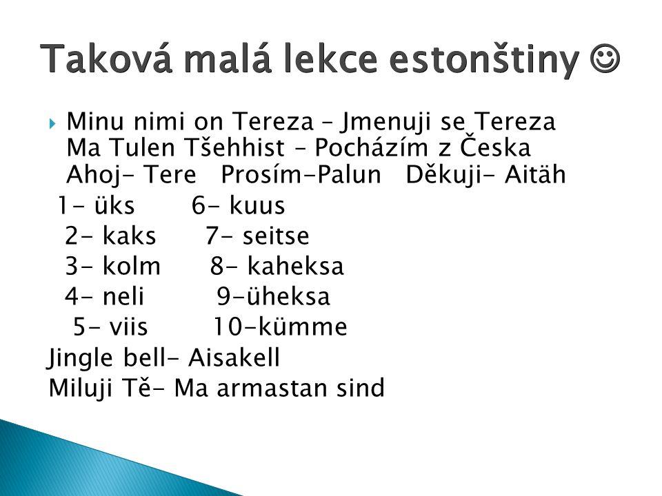 Taková malá lekce estonštiny 