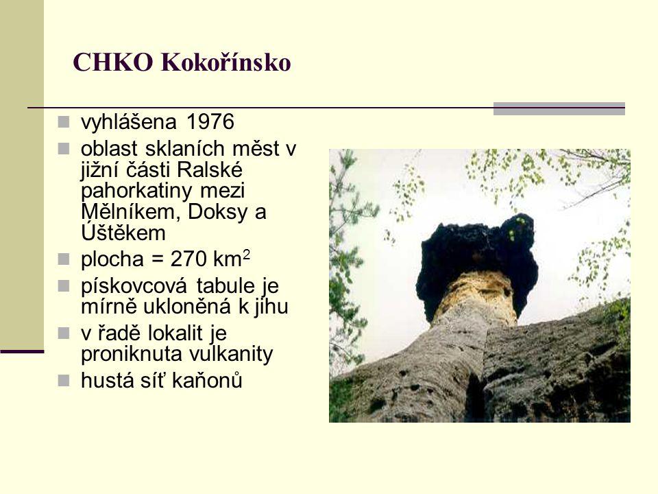 CHKO Kokořínsko vyhlášena 1976