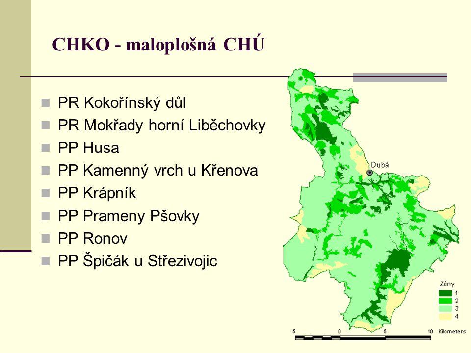 CHKO - maloplošná CHÚ PR Kokořínský důl PR Mokřady horní Liběchovky