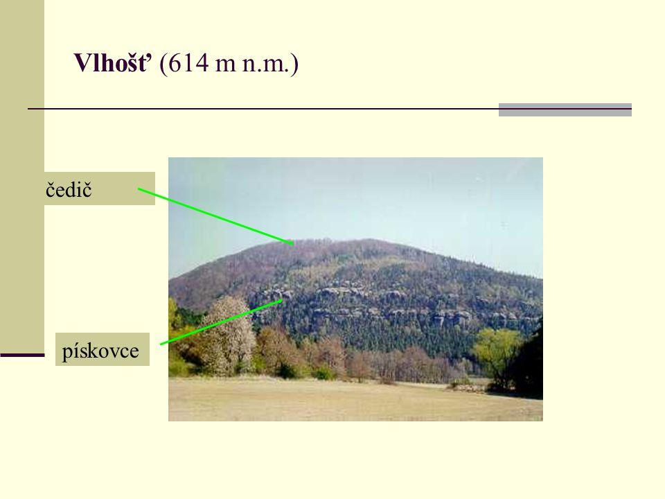 Vlhošť (614 m n.m.) čedič pískovce