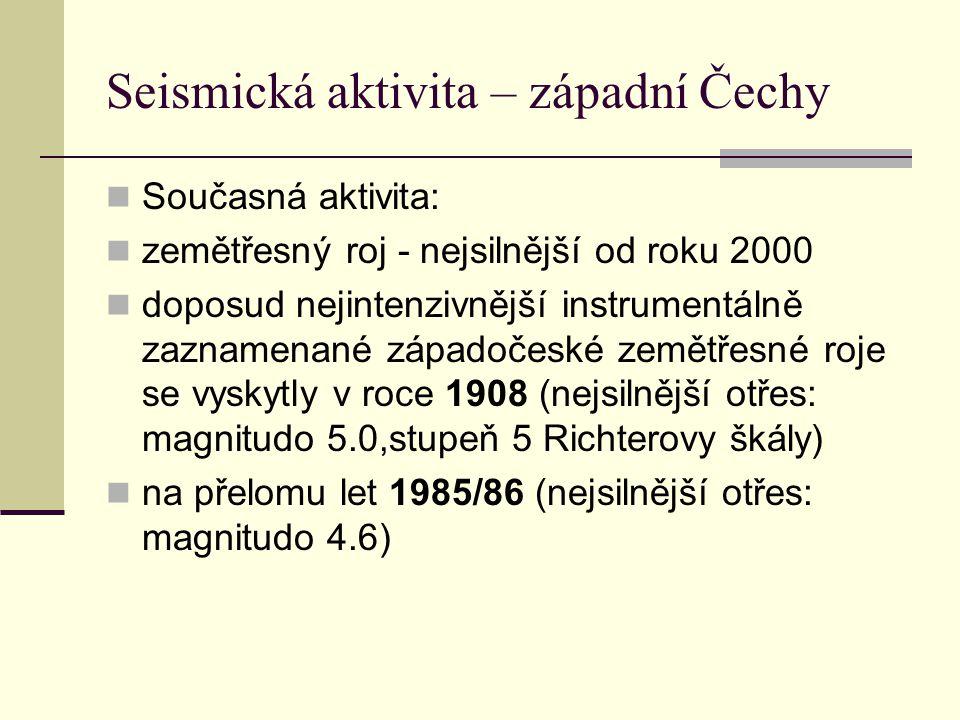 Seismická aktivita – západní Čechy