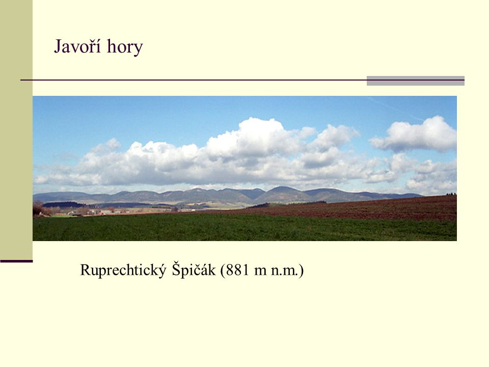 Javoří hory Ruprechtický Špičák (881 m n.m.)