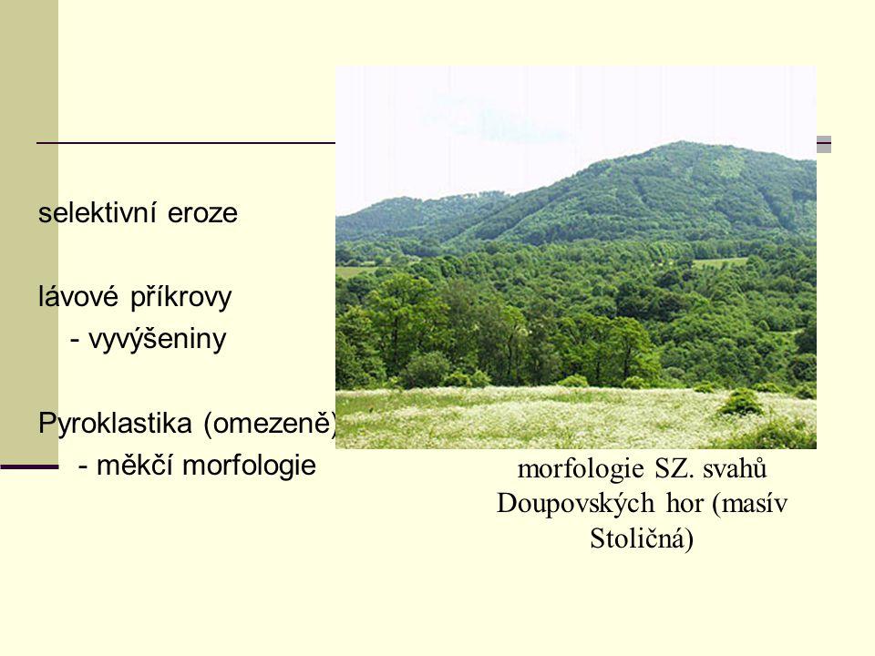 morfologie SZ. svahů Doupovských hor (masív Stoličná)
