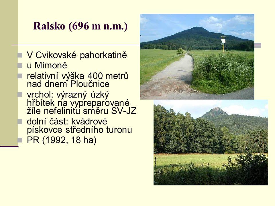 Ralsko (696 m n.m.) V Cvikovské pahorkatině u Mimoně