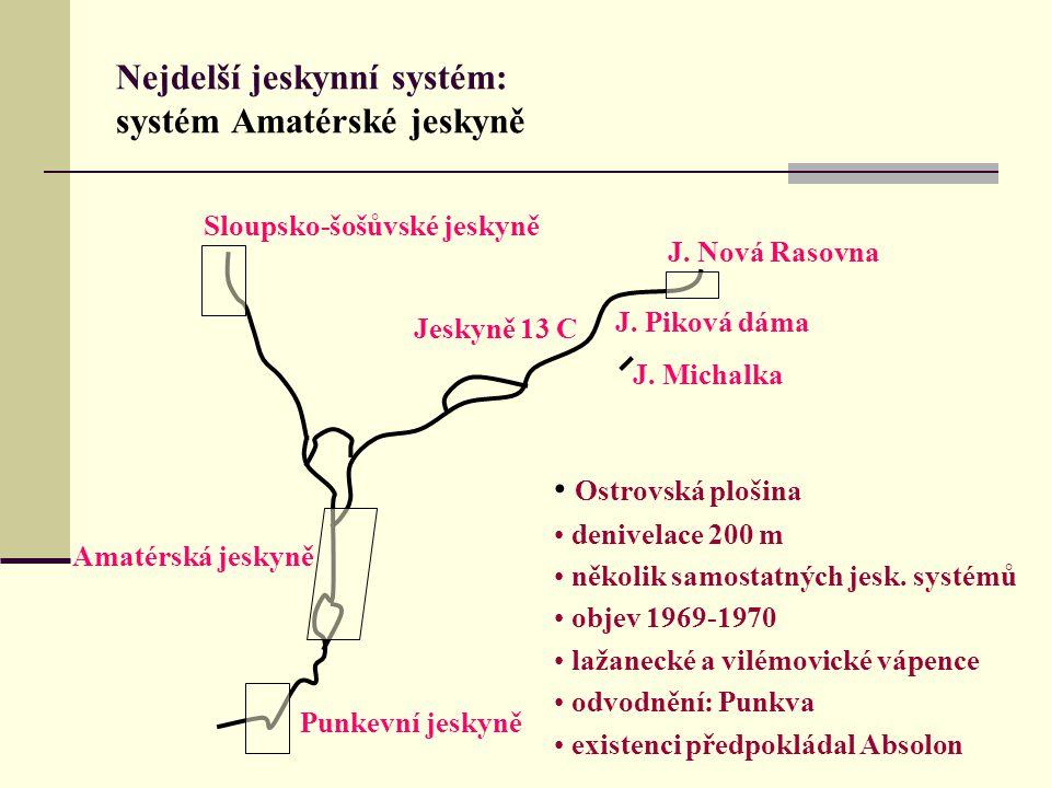 Nejdelší jeskynní systém: systém Amatérské jeskyně