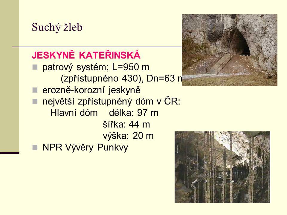 Suchý žleb JESKYNĚ KATEŘINSKÁ patrový systém; L=950 m