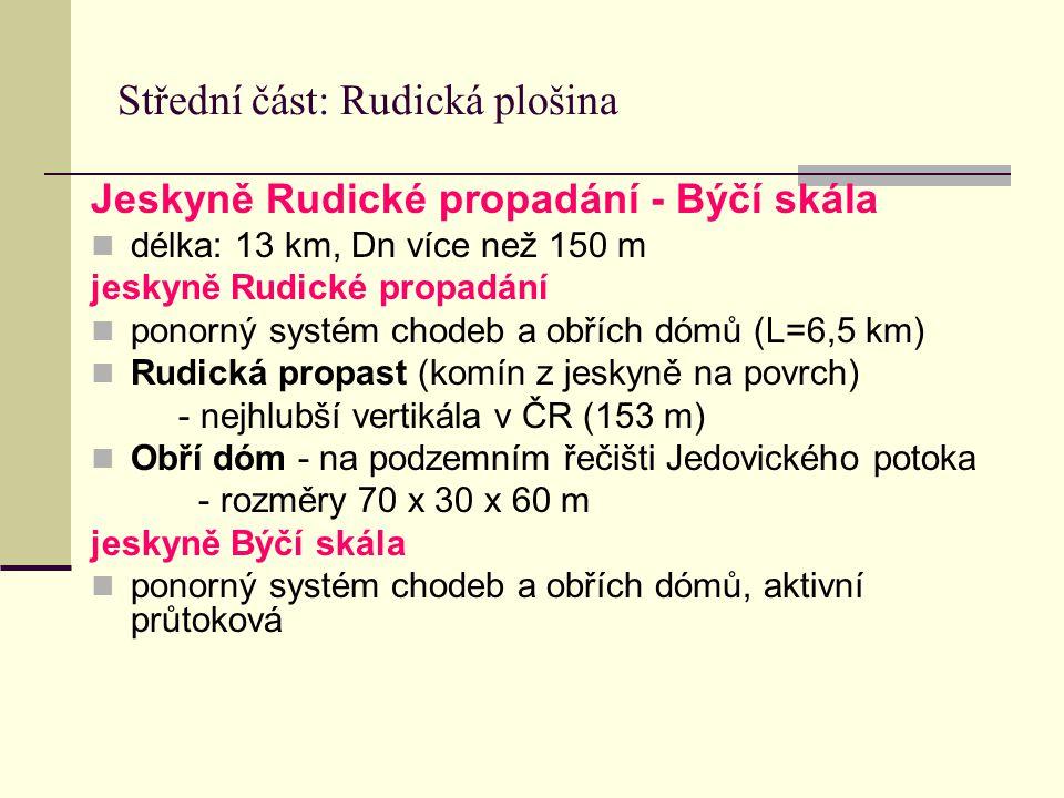 Střední část: Rudická plošina