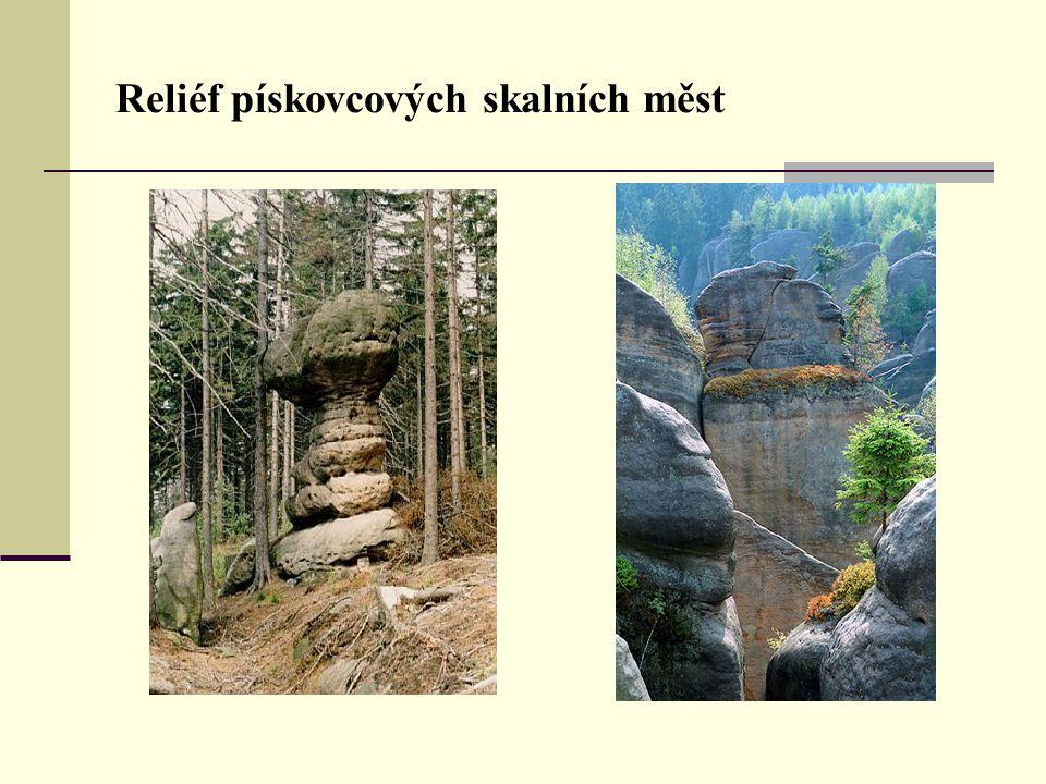 Reliéf pískovcových skalních měst