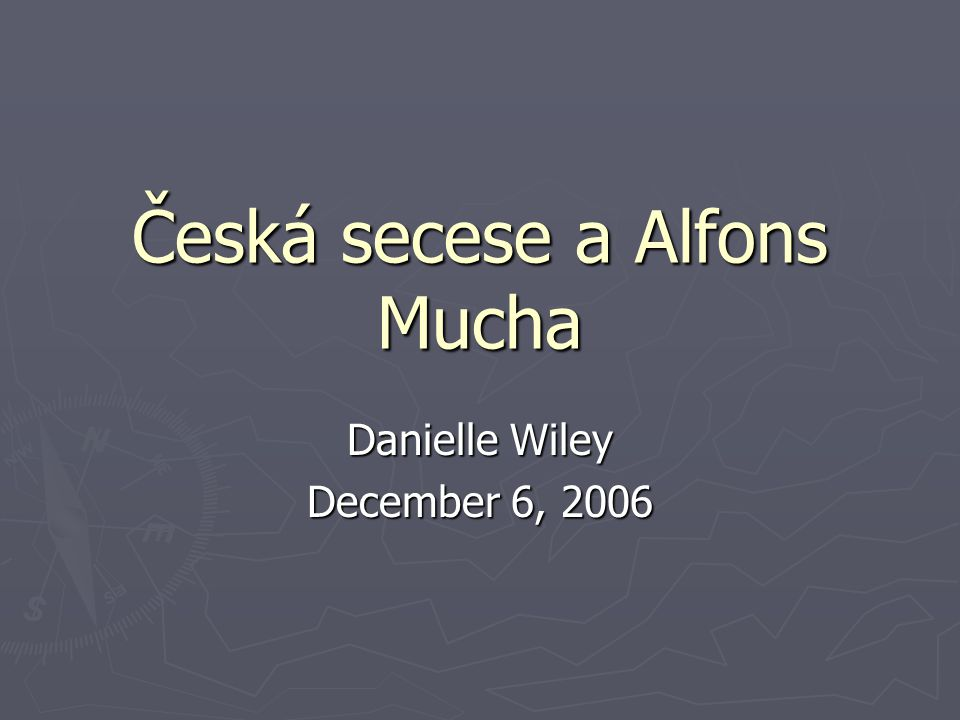 Česká secese a Alfons Mucha
