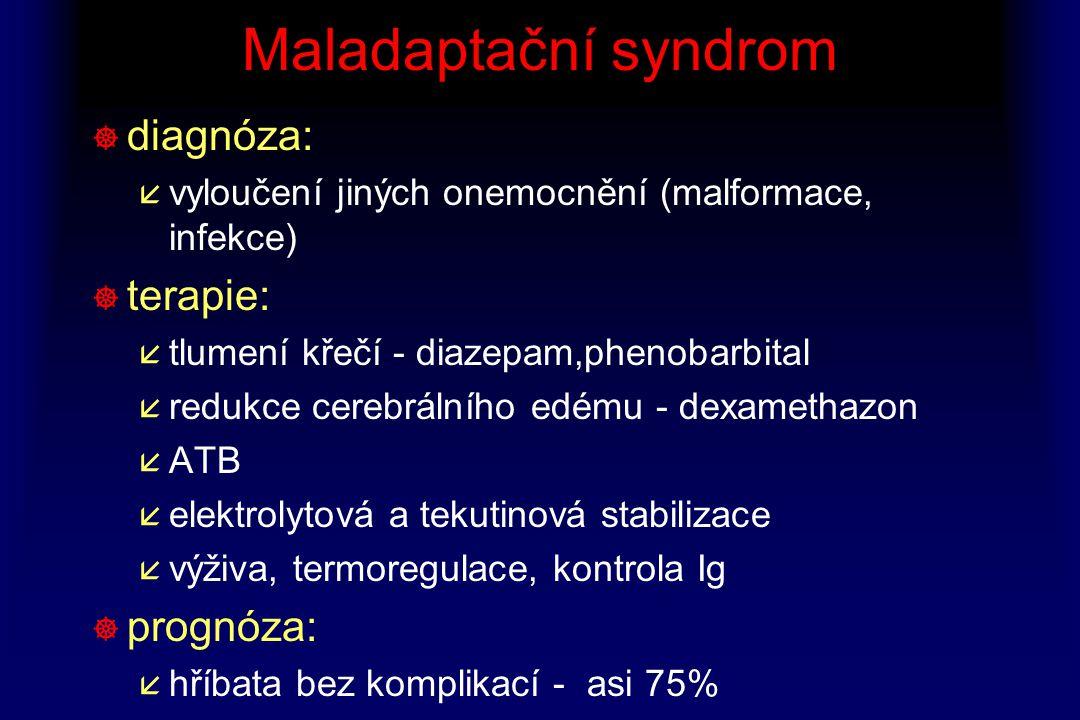Maladaptační syndrom diagnóza: terapie: prognóza: