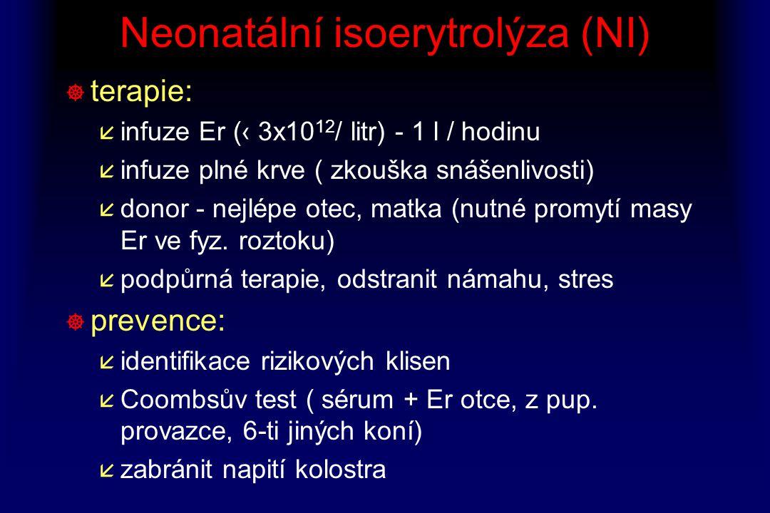 Neonatální isoerytrolýza (NI)