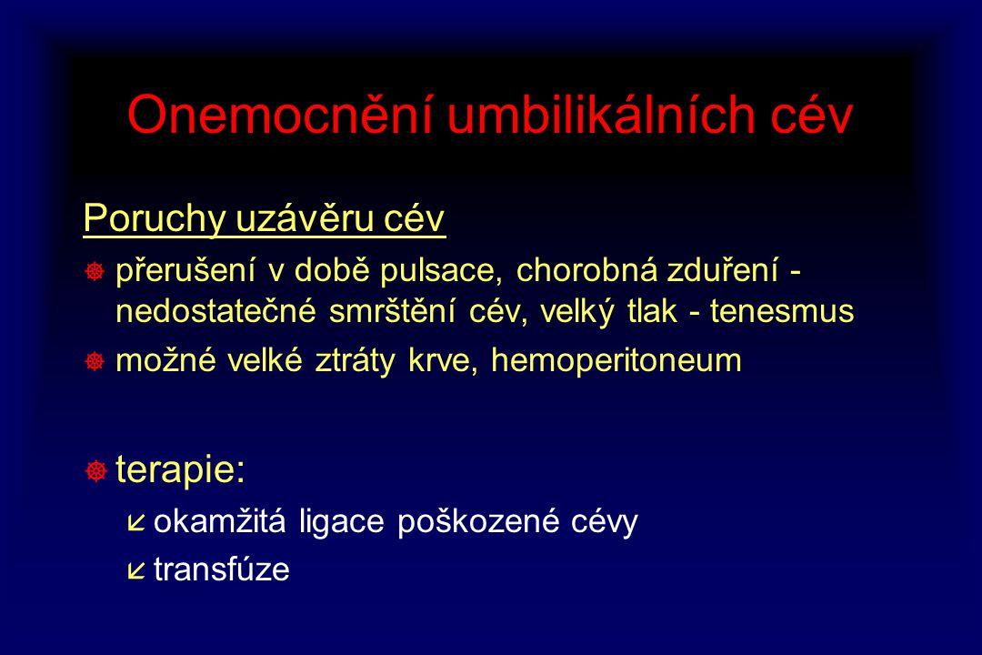 Onemocnění umbilikálních cév