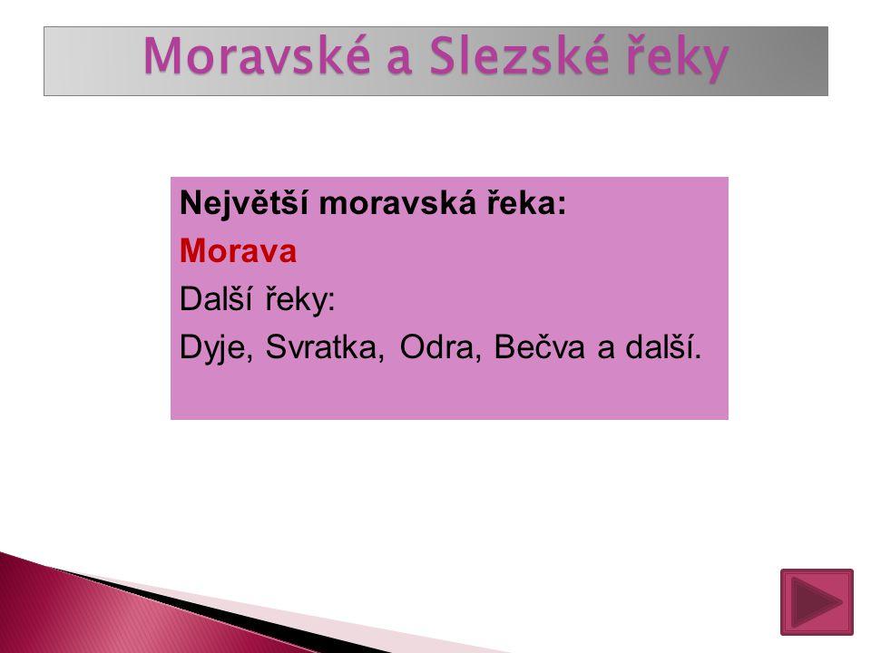 Moravské a Slezské řeky