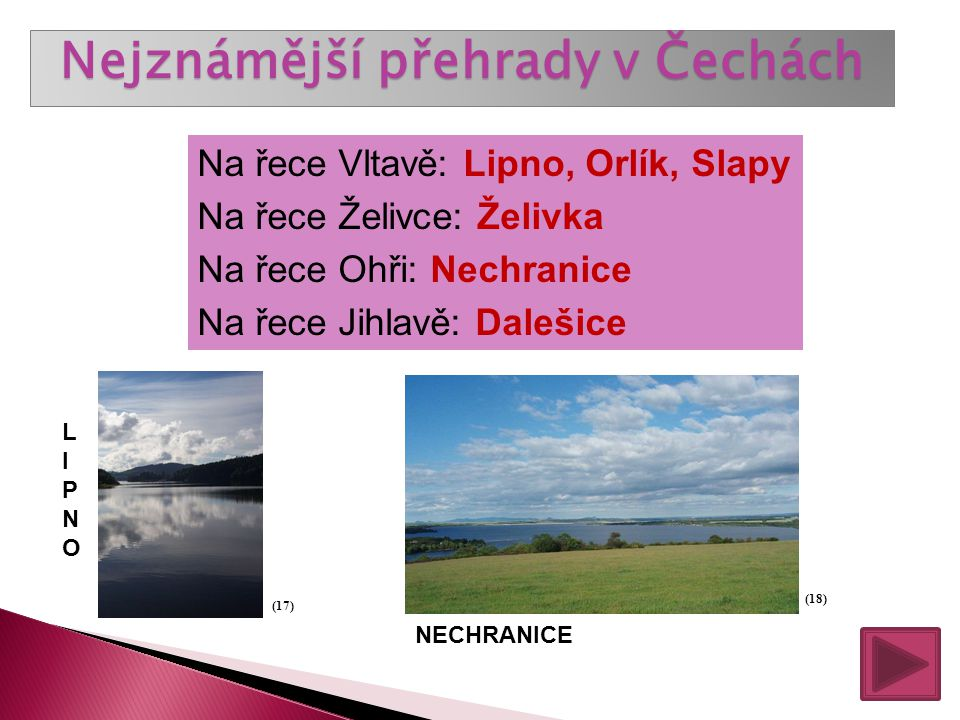 Nejznámější přehrady v Čechách