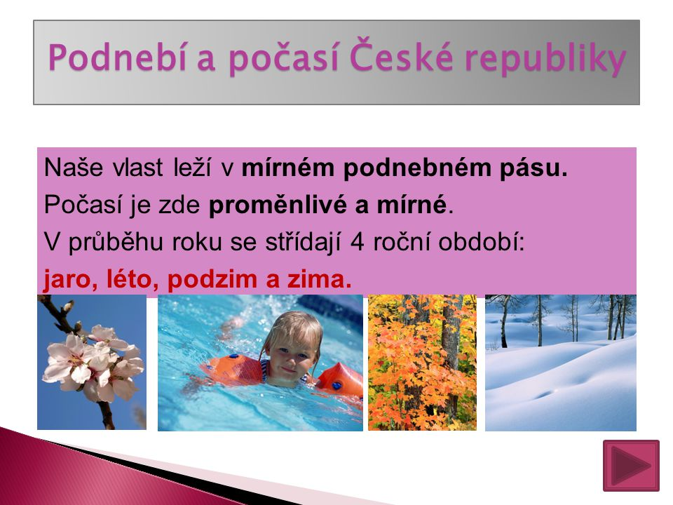 Podnebí a počasí České republiky