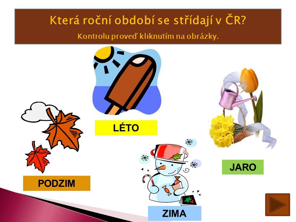 Která roční období se střídají v ČR