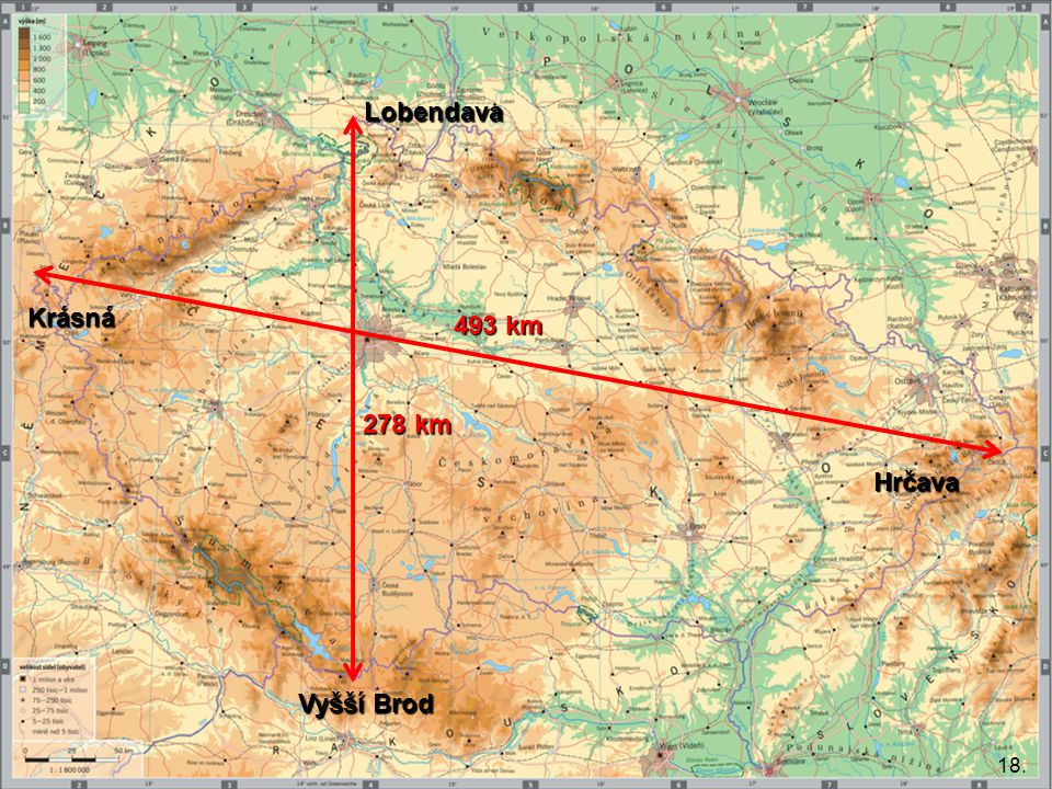 Lobendava Krásná 493 km 278 km Hrčava Vyšší Brod 18.