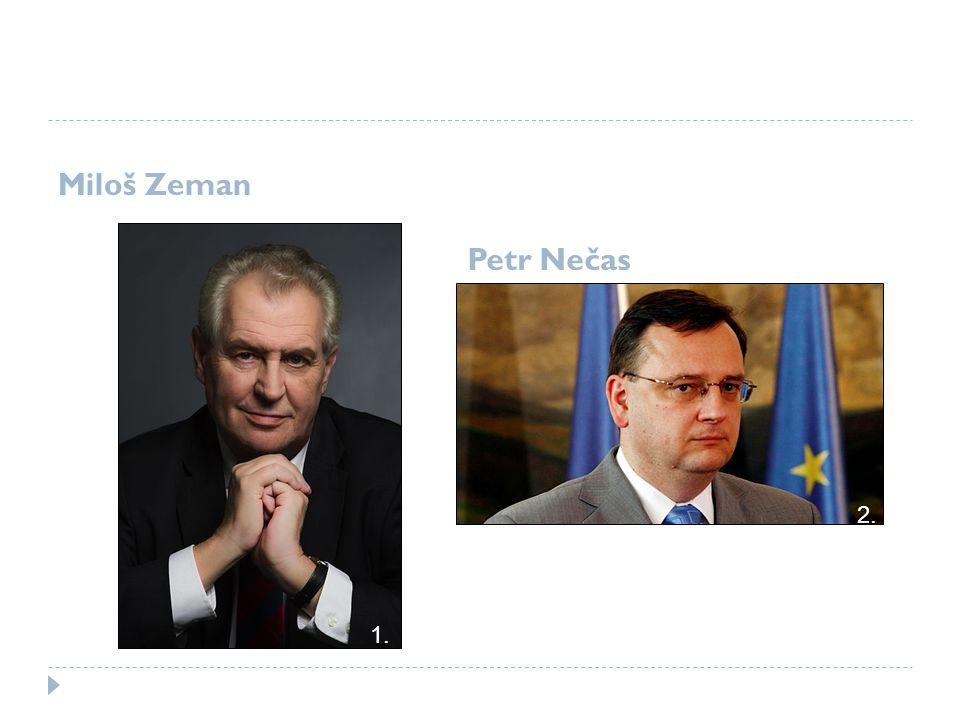 Miloš Zeman Petr Nečas 2. 1.