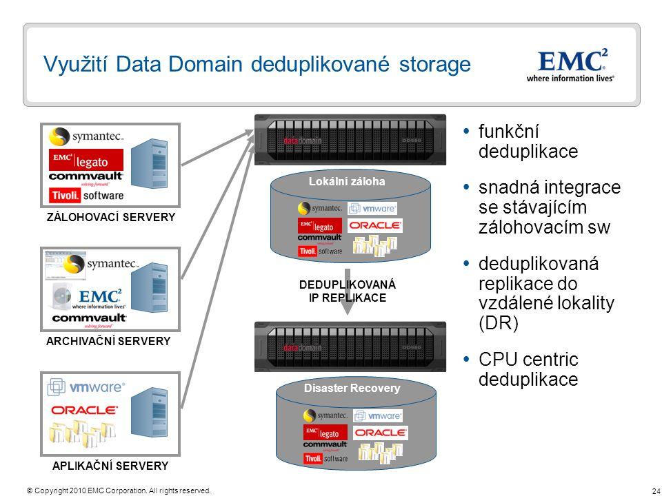 Využití Data Domain deduplikované storage