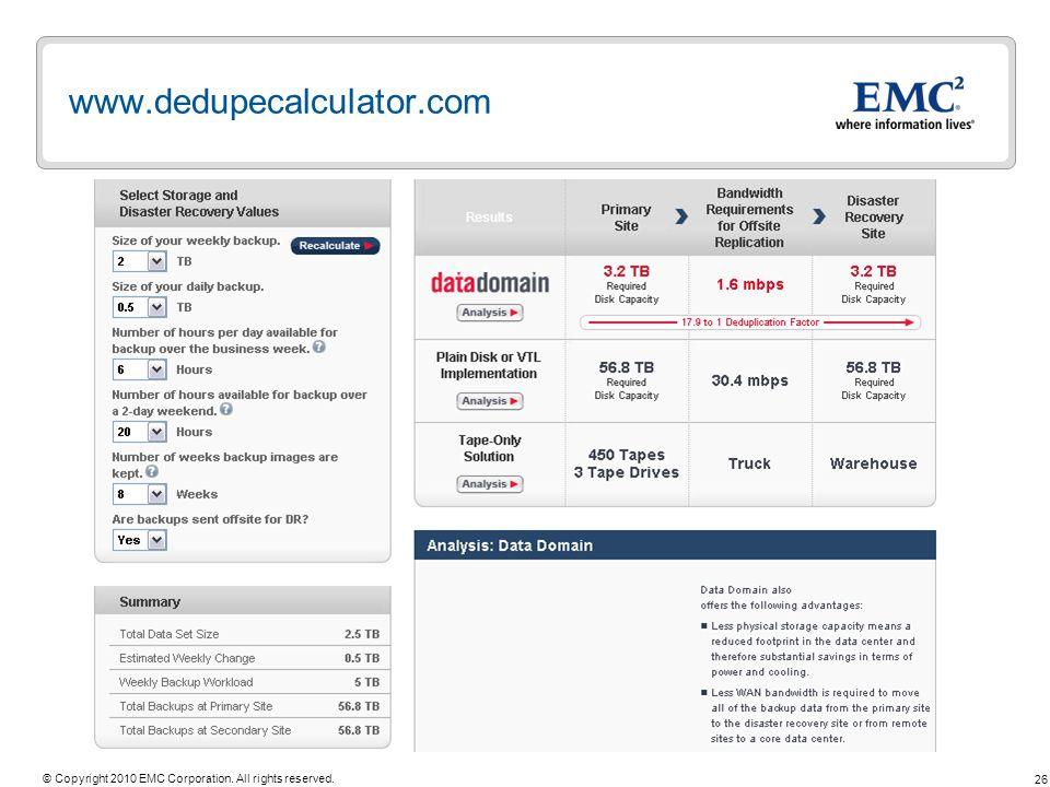 www.dedupecalculator.com