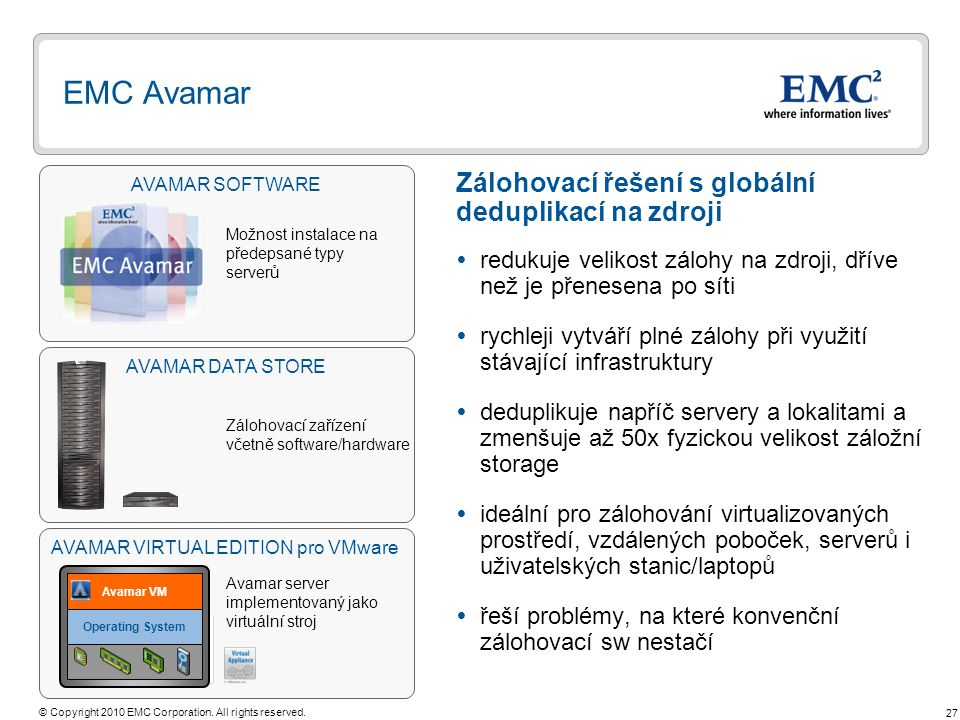 AVAMAR VIRTUAL EDITION pro VMware