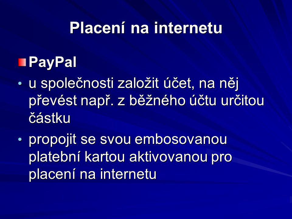 Placení na internetu PayPal