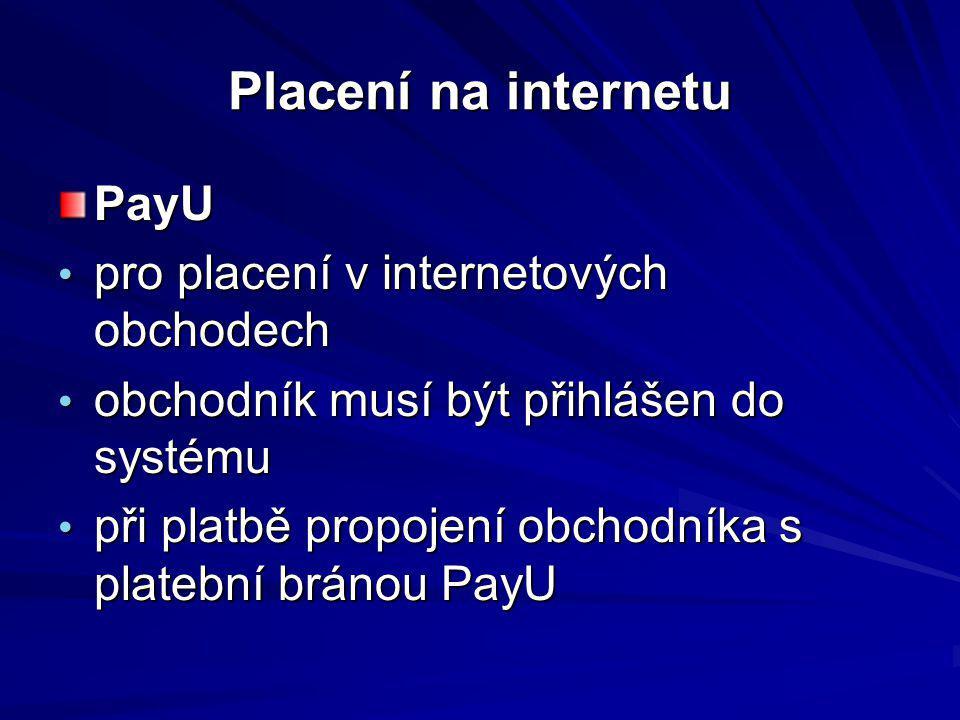 Placení na internetu PayU pro placení v internetových obchodech