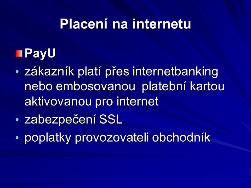 Placení na internetu PayU
