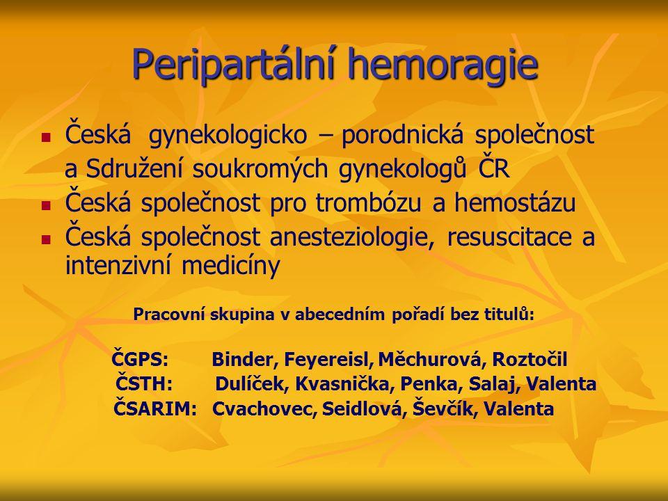 Peripartální hemoragie