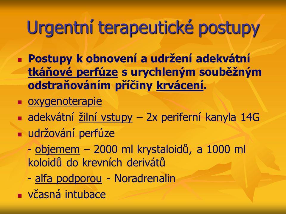 Urgentní terapeutické postupy
