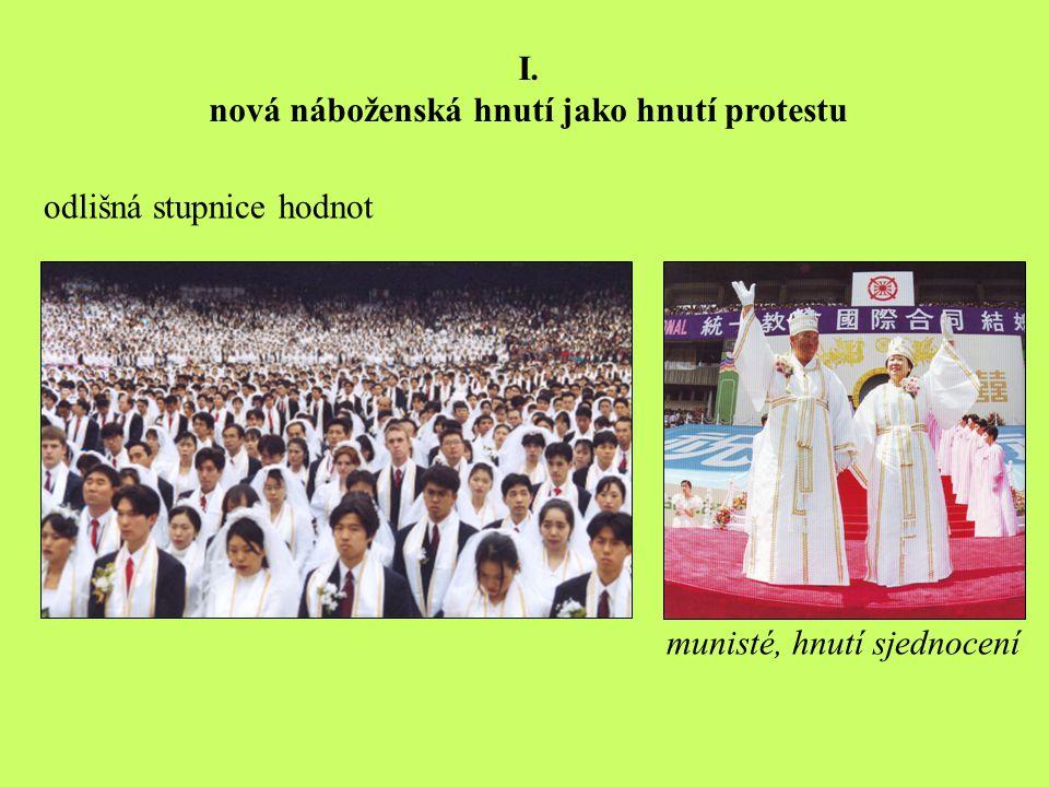 I. nová náboženská hnutí jako hnutí protestu