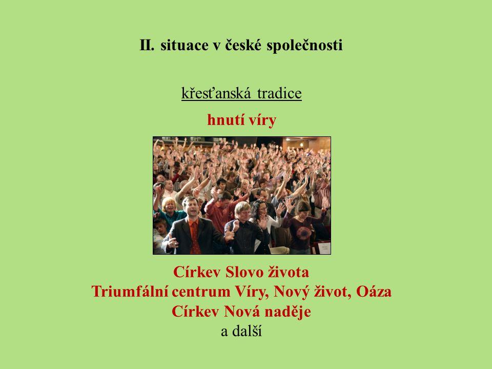 II. situace v české společnosti