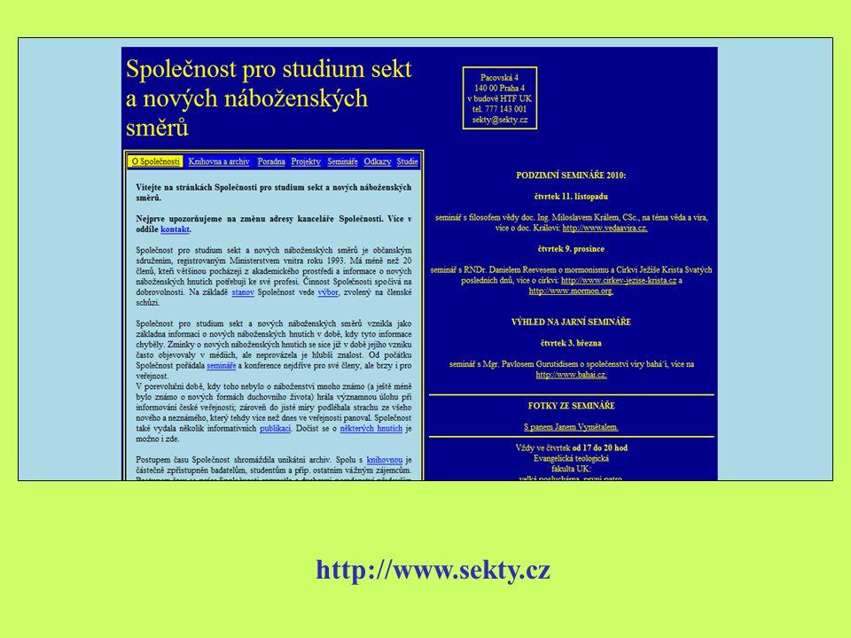 http://www.sekty.cz