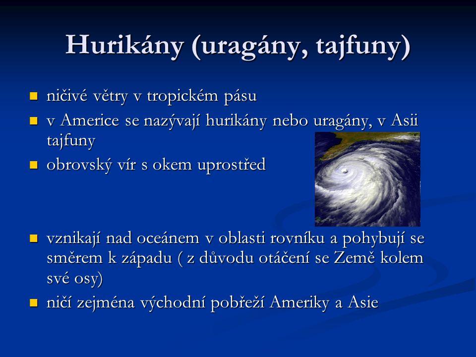 Hurikány (uragány, tajfuny)
